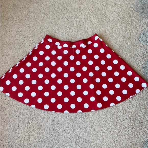 b855e0796 Poprageous Skirts | Minnie Mouse Disney Polka Dot Skirt | Poshmark